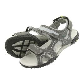 Sandałki chłopięce sportowe American Club RL18 grey szare 4