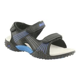 Sandałki chłopięce American Club HL15 czarne niebieskie 1