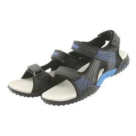 Sandałki chłopięce American Club HL15 czarne niebieskie 3