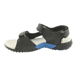 Sandałki chłopięce American Club HL15 czarne niebieskie 2