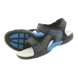 Sandałki chłopięce American Club HL15 czarne niebieskie 4