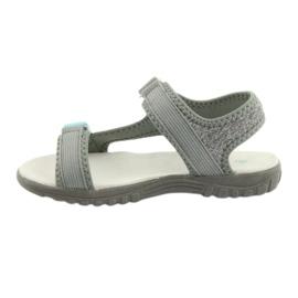 Sandałki z wkładką skórzaną American Club RL10 grey/blue niebieskie szare 2