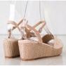 Aclys brązowe Casualowe Sandały Na Koturnie zdjęcie 1