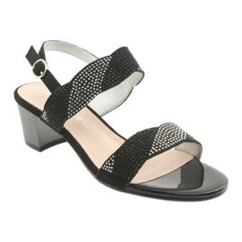 Sandały na słupku Sergio Leone SK795 czarne 1