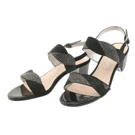 Sandały na słupku Sergio Leone SK795 czarne 3