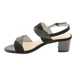 Sandały na słupku Sergio Leone SK795 czarne 2