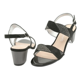 Sandały na słupku Sergio Leone SK795 czarne 4