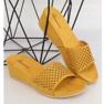 Klapki ażurowe żółte JS-03 Yellow 2