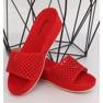 Klapki ażurowe czerwone JS-03 Red 1
