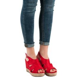 Best Shoes Czerwone Sandały Espadryle 2