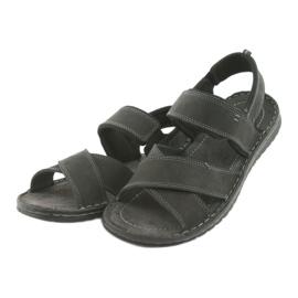 Riko buty męskie sandały sportowe 852 czarne 3