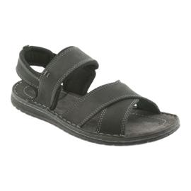 Riko buty męskie sandały sportowe 852 czarne 1