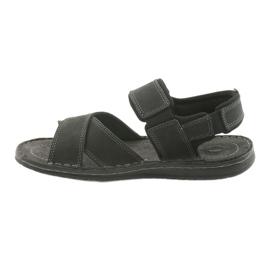 Riko buty męskie sandały sportowe 852 czarne 2