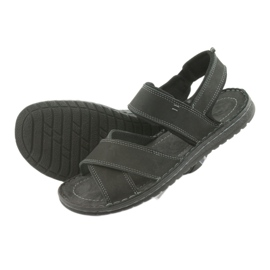 Riko buty męskie sandały sportowe 852 czarne 4