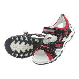 Sandałki chłopięce rzepy Bartek 16176 granatowo-czerwone szare granatowe 5