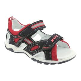Sandałki chłopięce rzepy Bartek 16176 granatowo-czerwone szare granatowe 1