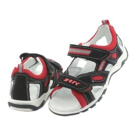 Sandałki chłopięce rzepy Bartek 16176 granatowo-czerwone szare granatowe 4