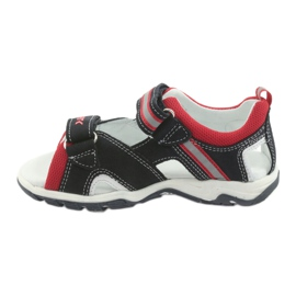 Sandałki chłopięce rzepy Bartek 16176 granatowo-czerwone szare granatowe 2