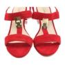Sandały na słupku czerwone Caprice 28303 6