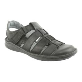 Sandały męskie sportowe Riko 619 czarne 1