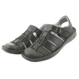 Sandały męskie sportowe Riko 619 czarne 3