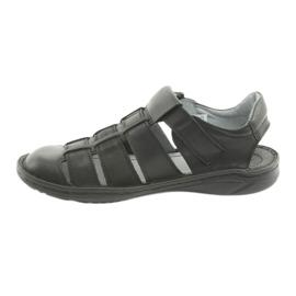 Sandały męskie sportowe Riko 619 czarne 2