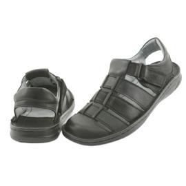 Sandały męskie sportowe Riko 619 czarne 4