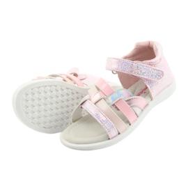 Sandałki dziewczęce American Club GC26 różowe szare 5