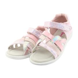 Sandałki dziewczęce American Club GC26 różowe szare 3