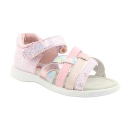 Sandałki dziewczęce American Club GC26 różowe szare 1