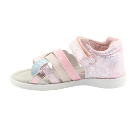 Sandałki dziewczęce American Club GC26 różowe szare 2