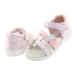 Sandałki dziewczęce American Club GC26 różowe szare 4