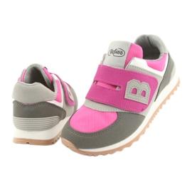 Befado obuwie dziecięce do 23 cm 516Y039 fioletowe szare 4