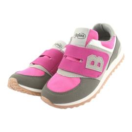 Befado obuwie dziecięce do 23 cm 516Y039 fioletowe szare 3