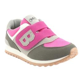 Befado obuwie dziecięce do 23 cm 516Y039 fioletowe szare 1
