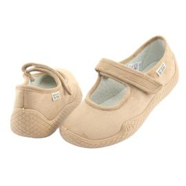 Befado obuwie damskie pu--young 197D004 beżowy 5