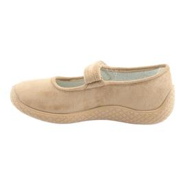 Befado obuwie damskie pu--young 197D004 beżowy 3