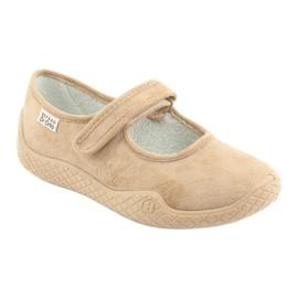 Befado obuwie damskie pu--young 197D004 beżowy 2