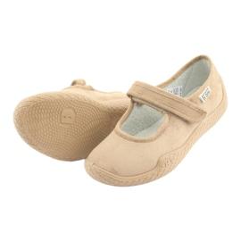 Befado obuwie damskie pu--young 197D004 beżowy 6