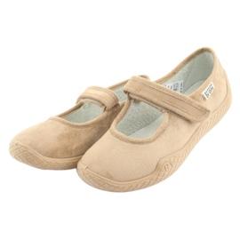 Befado obuwie damskie pu--young 197D004 beżowy 4