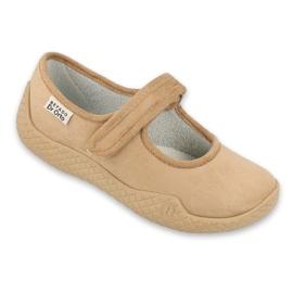 Befado obuwie damskie pu--young 197D004 beżowy 1