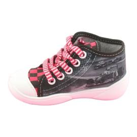 Befado obuwie dziecięce 218P050 szare czerwone 3