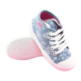 Befado obuwie dziecięce 218P056 niebieskie 4