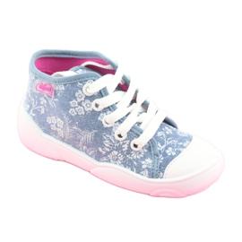 Befado obuwie dziecięce 218P056 niebieskie 2