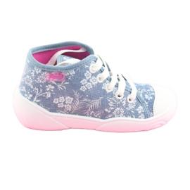 Befado obuwie dziecięce 218P056 niebieskie 1