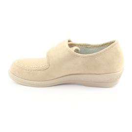 Befado obuwie damskie pu 984D011 brązowe 3