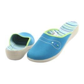 Befado obuwie damskie pu 552D008 niebieskie zielone 4