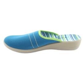 Befado obuwie damskie pu 552D008 niebieskie zielone 2
