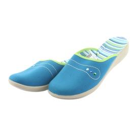 Befado obuwie damskie pu 552D008 niebieskie zielone 3
