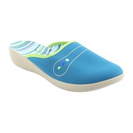Befado obuwie damskie pu 552D008 niebieskie zielone 1